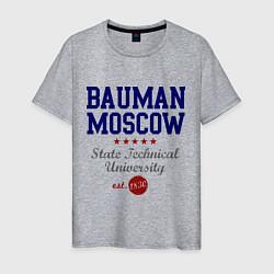 Футболка хлопковая мужская Bauman STU цвета меланж — фото 1