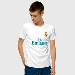 Футболка хлопковая мужская Real Madrid: Ronaldo 07 цвета белый — фото 2