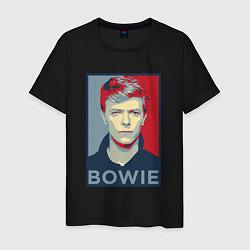 Футболка хлопковая мужская Bowie Poster цвета черный — фото 1