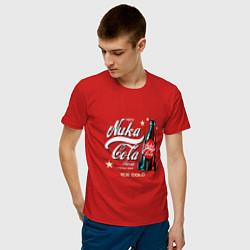 Футболка хлопковая мужская Nuka-Cola Enjoy цвета красный — фото 2