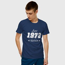 Футболка хлопковая мужская Limited Edition 1972 цвета тёмно-синий — фото 2