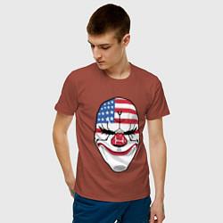 Футболка хлопковая мужская American Mask цвета кирпичный — фото 2