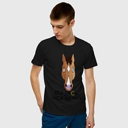 Мужская хлопковая футболка с принтом BoJack Horseman, цвет: черный, артикул: 10140833900001 — фото 2
