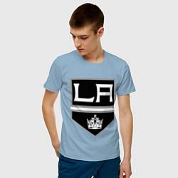 Футболка хлопковая мужская Los Angeles Kings цвета мягкое небо — фото 2