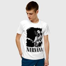Футболка хлопковая мужская Black Nirvana цвета белый — фото 2