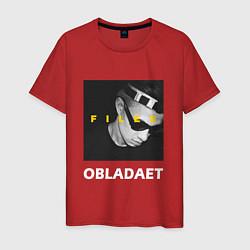 Мужская хлопковая футболка с принтом Obladaet Files, цвет: красный, артикул: 10144527100001 — фото 1