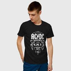 Футболка хлопковая мужская AC/DC: Run For Your Life цвета черный — фото 2