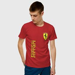 Футболка хлопковая мужская Ferrari Sport цвета красный — фото 2