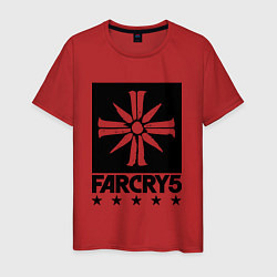 Футболка хлопковая мужская Eden's Gate: Far Cry 5 цвета красный — фото 1