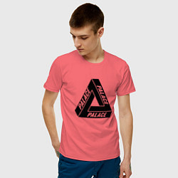 Футболка хлопковая мужская Palace Triangle цвета коралловый — фото 2