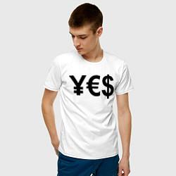 Футболка хлопковая мужская YE$ цвета белый — фото 2