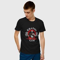 Футболка хлопковая мужская Kratos Gym цвета черный — фото 2