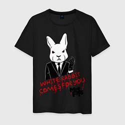 Футболка хлопковая мужская Misfits: White rabbit цвета черный — фото 1