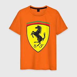 Футболка хлопковая мужская Ferrari SJ цвета оранжевый — фото 1