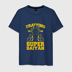 Футболка хлопковая мужская Super Saiyan Training цвета тёмно-синий — фото 1