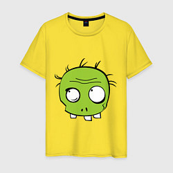 Футболка хлопковая мужская Zombie (plant) цвета желтый — фото 1
