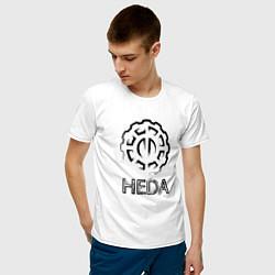 Футболка хлопковая мужская Heda цвета белый — фото 2