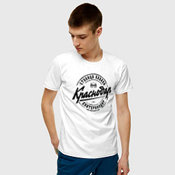 Футболка хлопковая мужская Краснодар: столица Кубани цвета белый — фото 2