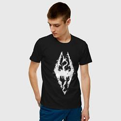 Футболка хлопковая мужская TES Dragon цвета черный — фото 2