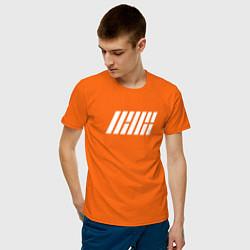 Футболка хлопковая мужская IKON цвета оранжевый — фото 2