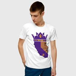 Мужская хлопковая футболка с принтом LeBron: The King, цвет: белый, артикул: 10162966700001 — фото 2