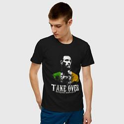 Мужская хлопковая футболка с принтом McGregor: Take Over, цвет: черный, артикул: 10163653900001 — фото 2