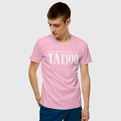Футболка хлопковая мужская Taboo: Denzel Curry цвета светло-розовый — фото 2