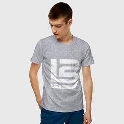 Футболка хлопковая мужская Lebron James цвета меланж — фото 2