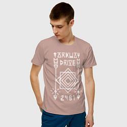 Футболка хлопковая мужская Parkway Drive: 2481 цвета пыльно-розовый — фото 2