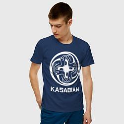 Футболка хлопковая мужская Kasabian: Symbol цвета тёмно-синий — фото 2