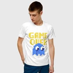 Футболка хлопковая мужская Pac-Man: Game over цвета белый — фото 2