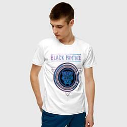 Футболка хлопковая мужская Черная пантера цвета белый — фото 2