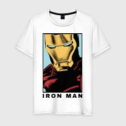 Футболка хлопковая мужская Iron Man цвета белый — фото 1