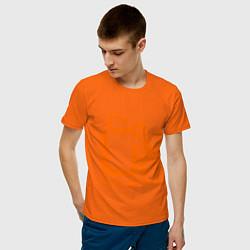Футболка хлопковая мужская Lin: как воздух цвета оранжевый — фото 2