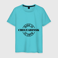 Футболка хлопковая мужская Made in Chelyabinsk цвета бирюзовый — фото 1