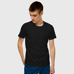 Футболка хлопковая мужская Без дизайна цвета черный — фото 2