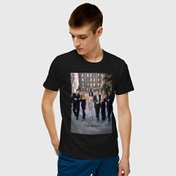 Футболка хлопковая мужская Friends цвета черный — фото 2