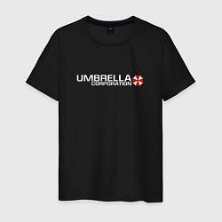Футболка хлопковая мужская UMBRELLA CORP цвета черный — фото 1