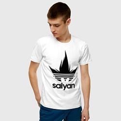 Футболка хлопковая мужская Saiyan цвета белый — фото 2
