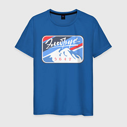 Футболка хлопковая мужская Эльбрус 5642 цвета синий — фото 1