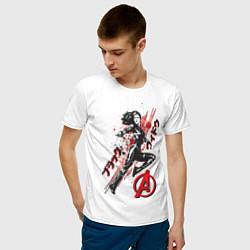 Футболка хлопковая мужская Черная Вдова цвета белый — фото 2