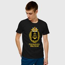 Футболка хлопковая мужская Северный флот ВМФ России цвета черный — фото 2