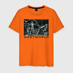 Футболка хлопковая мужская Westworld цвета оранжевый — фото 1