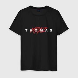 Футболка хлопковая мужская Thomas Mraz цвета черный — фото 1