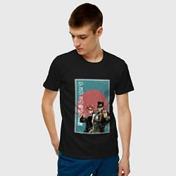 Футболка хлопковая мужская ДжоДжо цвета черный — фото 2