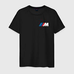 Футболка хлопковая мужская BMW M LOGO 2020 цвета черный — фото 1