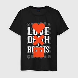 Футболка хлопковая мужская LOVE DEATH ROBOTS LDR цвета черный — фото 1