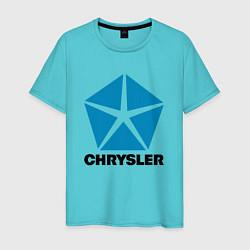 Футболка хлопковая мужская Chrysler цвета бирюзовый — фото 1
