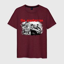 Футболка хлопковая мужская The Cranberries цвета меланж-бордовый — фото 1