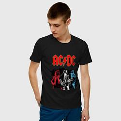 Мужская хлопковая футболка с принтом ACDC, цвет: черный, артикул: 10213874500001 — фото 2